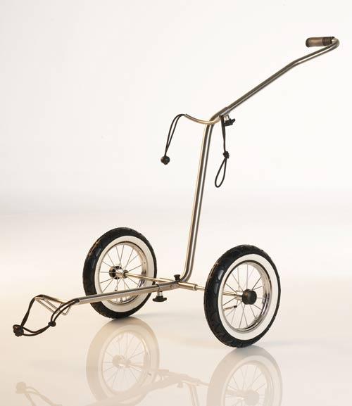 edelstahl golf trolley